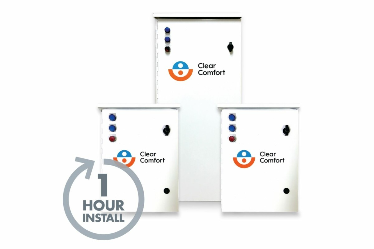 clear comfort 1 hour install boxes