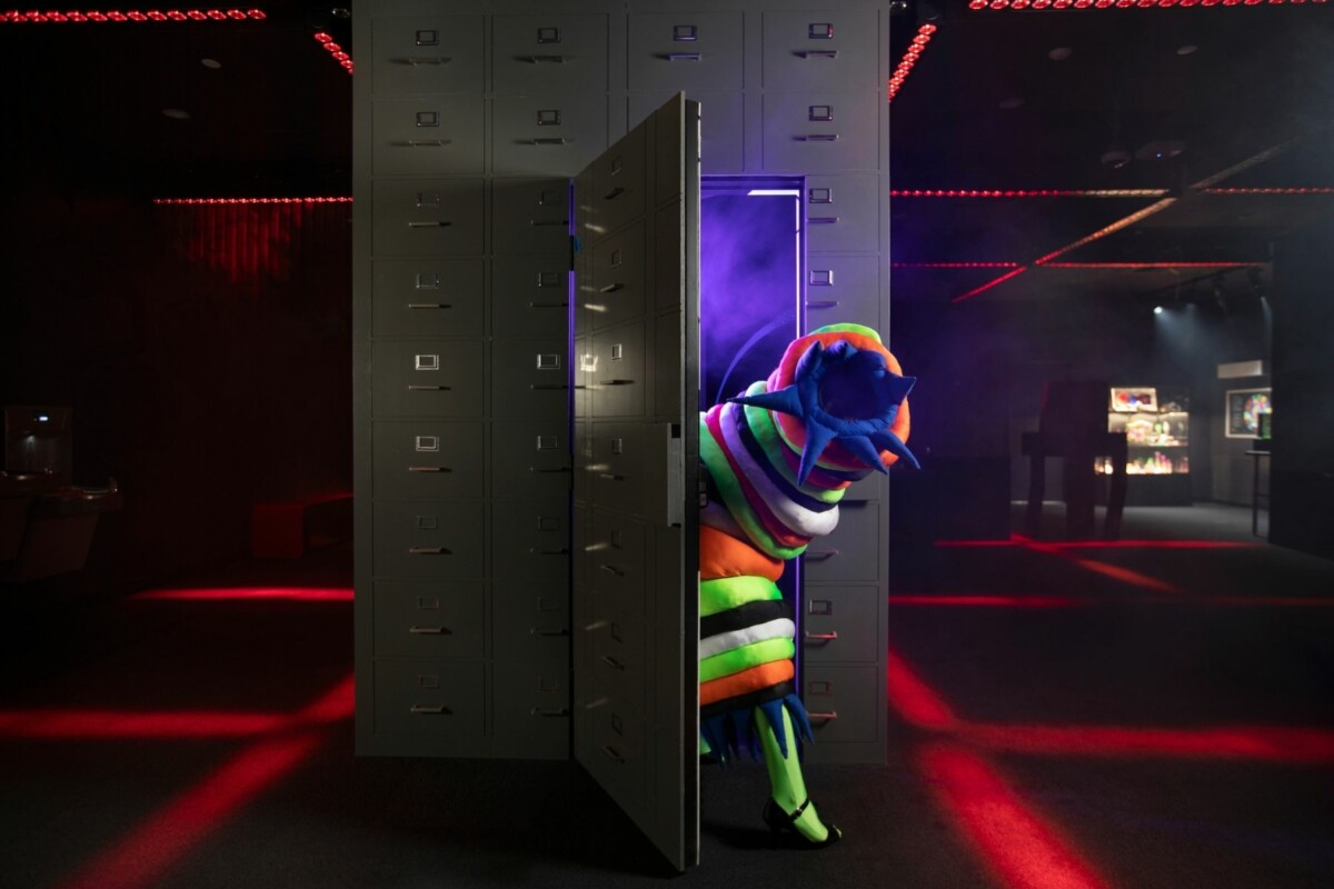 omega mart monster coming out of lockers